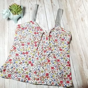 Anthropologie Postmark Floral Fitted Tank